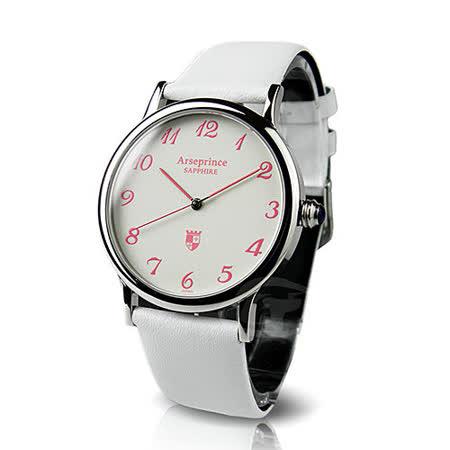 【Arseprince】熱淚銀框冷光男錶-白色