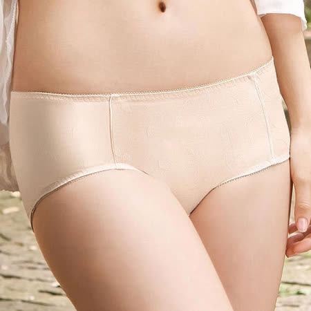 【華歌爾】環保I-earth 花式咖啡素面款M-LL中低腰平口褲(拿鐵咖啡)