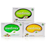 MEDIMIX 升級白鑽版 印度皇室藥草浴美肌皂 125g*12入組 三款混搭任選
