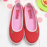【童鞋城堡】Rilakkuma拉拉熊小icon馬卡龍紅色帆布休閒鞋{台灣製造}KM8211