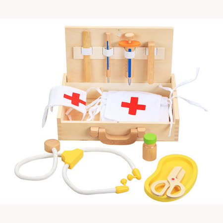 Classic world 來喜-德國經典木玩 木製醫護組 幼兒扮家家酒遊戲