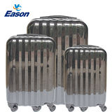 【YC Eason】繽紛鏡面二代拉桿行李箱三件組(20+24+28吋-髮絲黑)