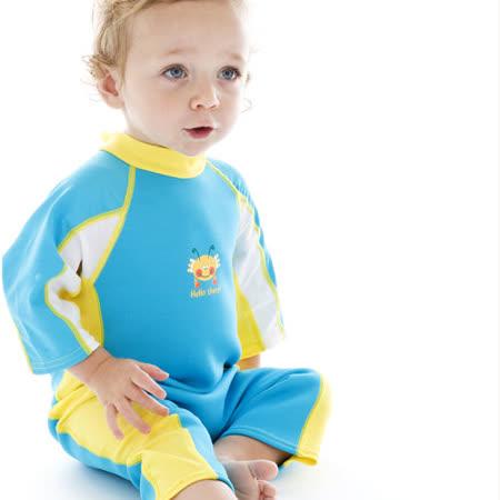 潑寶 Splash About - UV Combie 兒童抗UV防寒連身泳裝 - 水族剪影 / 水藍