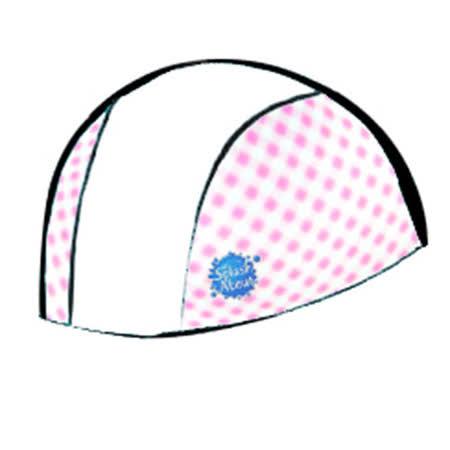 潑寶 Splash About - Swim Hat 抗UV泳帽- 白 / 粉紅格紋