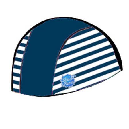 潑寶 Splash About - Swim Hat 抗UV泳帽- 海軍藍 / 藍白條紋