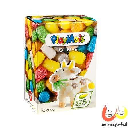 (購物車)《 Playmais 》玩玉米創意黏土小巧盒 - 牛
