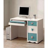 愛妮斯粉藍3.2尺電腦桌