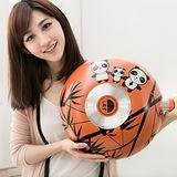 清水 麗彩熊貓不沾平炒鍋含蓋34CM-橘色