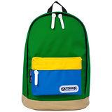 OUTDOOR 創意拼貼三色後背包-青綠