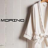 【MORINO】英倫邊飾紗布浴袍