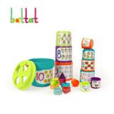 【美國B.Toys感統玩具】大口疊疊杯_Battat系列
