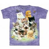 『摩達客』(預購)美國進口【The Mountain】自然純棉系列 10隻貓 設計T恤