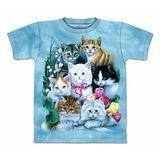 『摩達客』(預購)美國進口【The Mountain】自然純棉系列 貓兒群 設計T恤