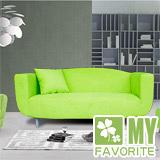 最愛傢俱 可樂 雙人布面沙發 蘋果綠 (兩色可選)