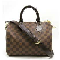 Louis Vuitton LV N41368 N41181 Speedy 25 時尚經典棋盤格紋手提包(附背帶)_現貨