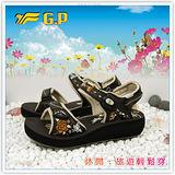 【G.P】阿亮代言 ~新潮花系列(35-39)尺碼女中底涼鞋G3645W-30(咖啡色)共二色