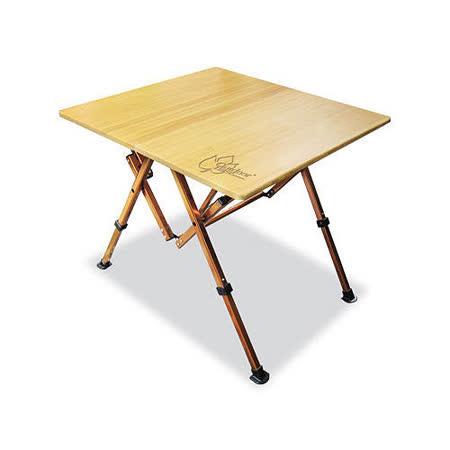 Outdoorbase 和風竹板桌/露營餐桌/摺疊桌25537