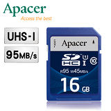 Apacer宇瞻 16GB SDHC UHS-I Class10  95MB/s 記憶卡
