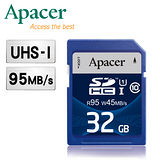 Apacer宇瞻 32GB SDHC UHS-I Class10  95MB/s 記憶卡