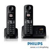 【飛利浦 PHILIPS】中文答錄雙機數位無線電話 D6052B