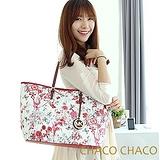 【CHACO韓國】韓製Flower花語寄情購物金屬吊牌水餃包3351F*紅色