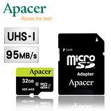Apacer宇瞻 32GB microSDHC UHS-I Class10  95MB/s 記憶卡(附轉卡)