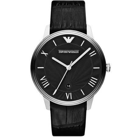 ARMANI 雅典時尚石英腕錶-黑 AR1611