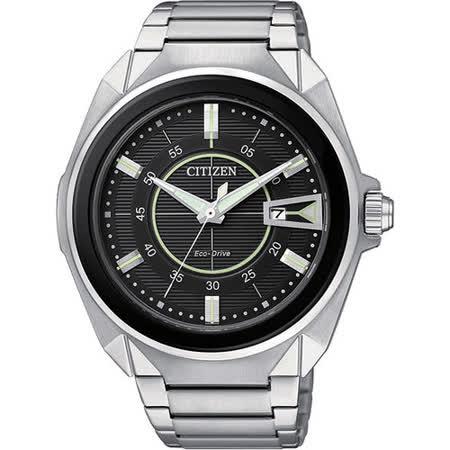 CITIZEN 決戰異世界光動能腕錶-黑 AW1021-51E