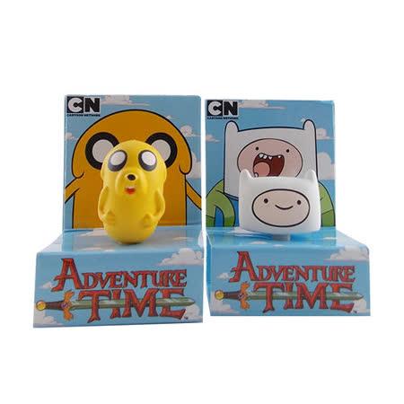 Adventure time 探險活寶立體造型耳機防塵塞-阿寶與老皮