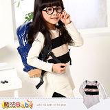 【魔法Baby】DODOMO品牌~特殊剪裁連身裙/洋裝~女童裝~k29246