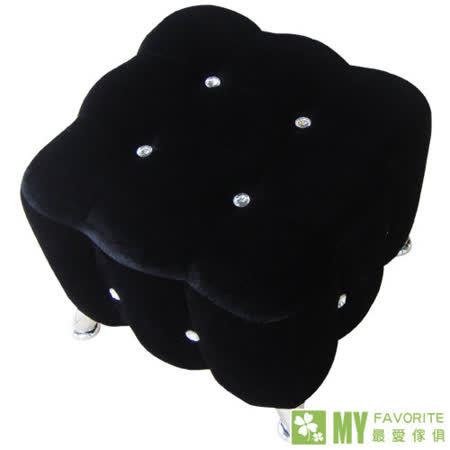 最愛傢俱 水鑽精靈 單人 貴妃 椅 (黑)