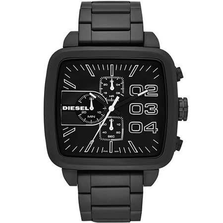 DIESEL 勇者之霸計時腕錶-IP黑 DZ4300