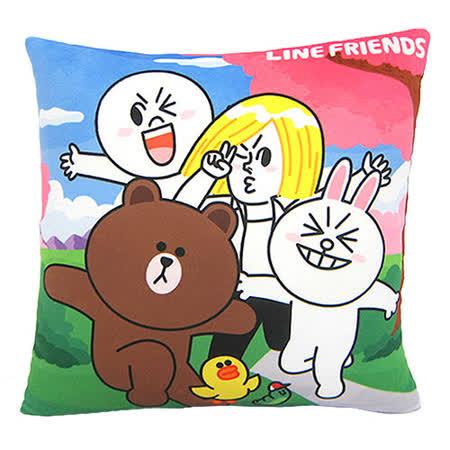 【享夢城堡】LINE FRIENDS 一同去郊遊方枕
