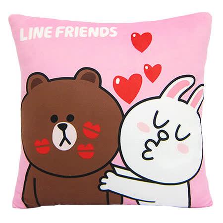 【享夢城堡】LINE FRIENDS KISS啾一下方枕