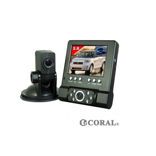 行車紀錄器 不斷電CORAL DVR-211 分離式雙鏡頭 行車紀錄