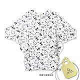 【摩達客】香港設計品牌精選手繪童話風HosannArt 童話連帽蝙蝠袖七分袖長版T恤上衣(附贈環保袋)