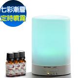 Warm燈控/定時超音波負離子水氧機(W-116S七彩燈)(2代機)加碼送澳洲純精油10mlx3瓶