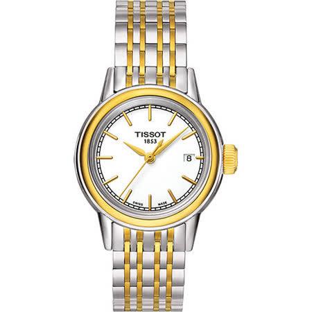 TISSOT Carson 經典石英女錶-白/雙色版 T0852102201100