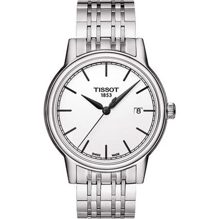 TISSOT Carson 經典石英腕錶-白 T0854101101100