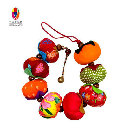 中國女紅坊 柿子吊飾-8粒串-居家吊飾