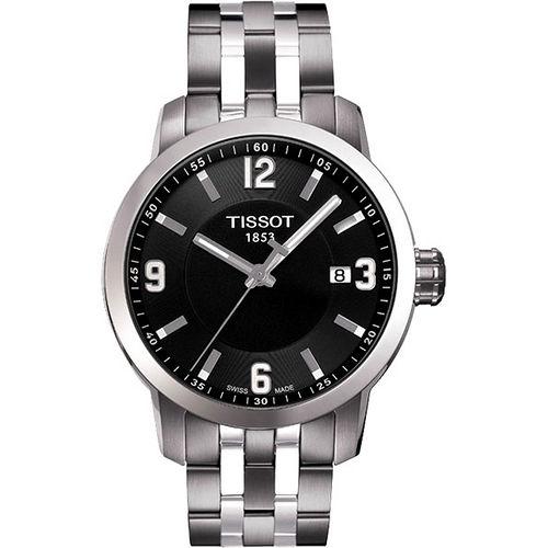 TISSOT PRC200 系列都會石英腕錶-黑/銀 T0554101105700