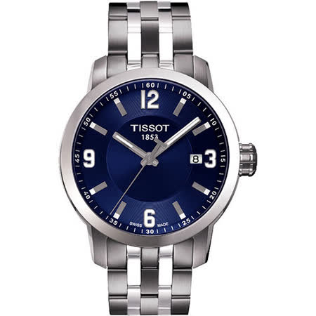 TISSOT PRC200 系列都會石英腕錶-藍/銀 T0554101104700