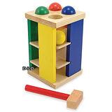 《 美國 Melissa & Doug 》經典玩具系列 - 敲敲滾球塔