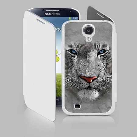 三星S4(700352) 3D手機殼 白老虎