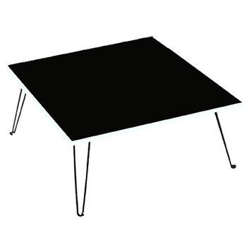 建鈞彩色和室摺疊桌-黑色