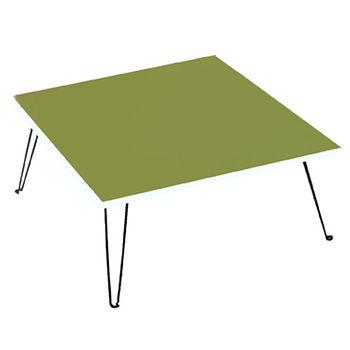 建鈞彩色和室摺疊桌-綠色