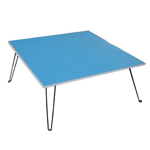 建鈞彩色和室摺疊桌~藍色 60~60~32cm