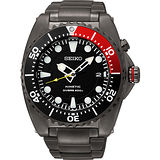 SEIKO Kinetic 怒海征服者潛水200米腕錶-IP黑 5M82-0AF0R