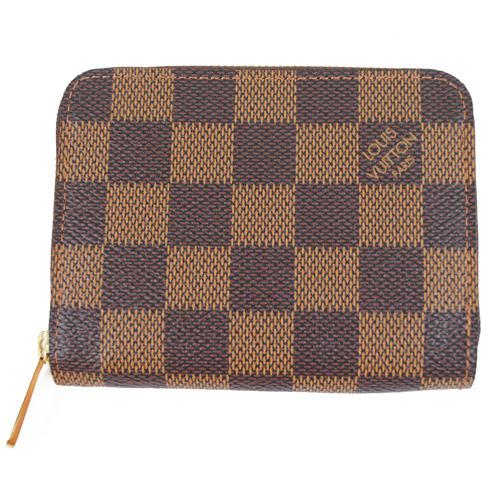 Louis Vuitton LV N63070 棋盤格紋信用卡拉鍊零錢包_