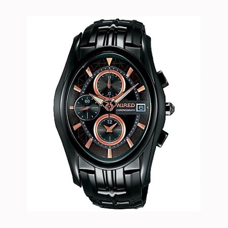 WIRED 剽悍武士計時腕錶-IP黑 7T92-X121O